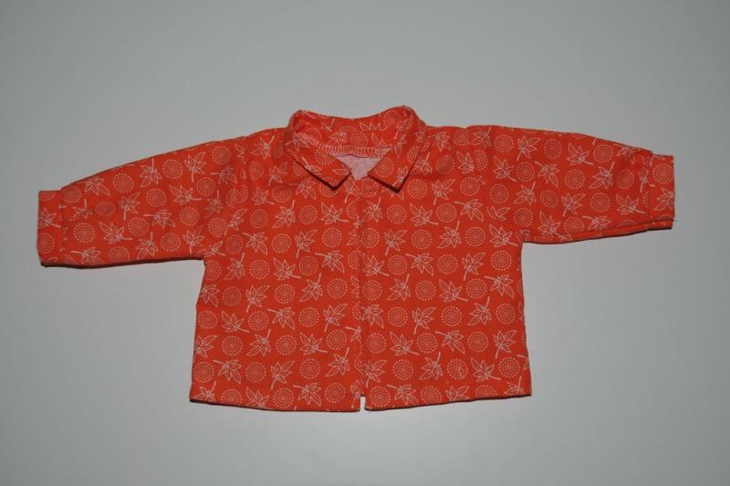 Orange skjorte med blade