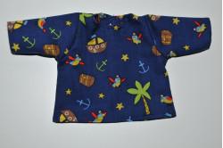 Blå bluse med piratpapegøje