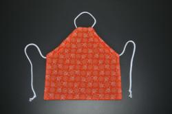 Orange forklæde med blade