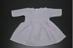 Hvid kjole med lilla striber
