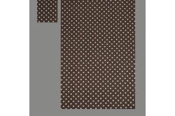 Brun med prikker (sengesæt op til 70 cm.)