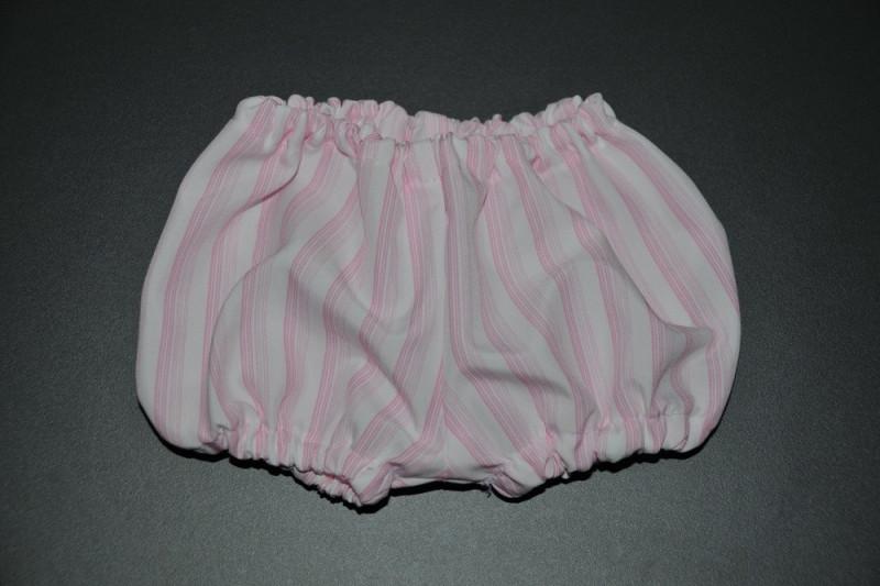 Hvide pludder bukser med lyserøde striber