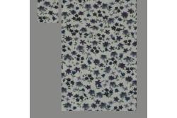 Beige med lilla blomster (sengesæt op til 70 cm.)