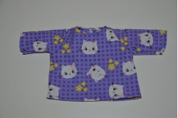 Lilla bluse med katte