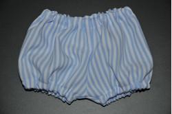 Hvide pludderbukser med lyseblå striber