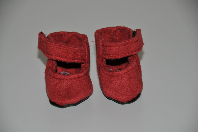Rød ruskind sko
