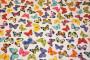 Hvid bluse med sommerfugle