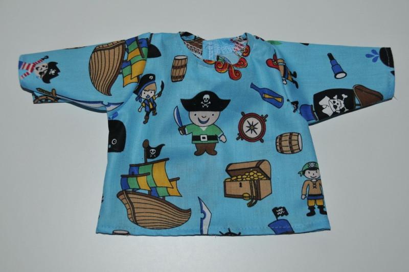 Blå bluse med pirater
